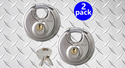 set of two padlocks