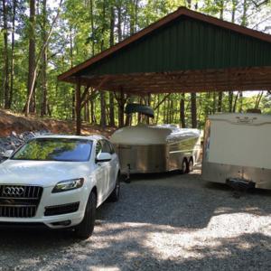 Aerovault next to box trailer