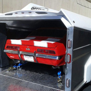 Camaro SS In Enclosed Aerovault Trailer