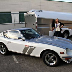 Gayle with 240z and Aerovault